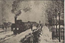 Musee Marmottan. Painting: Le Train Sous La Neige,par Claude Monet. . S-4202 - Museum