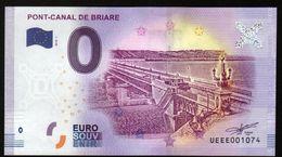 France - Billet Touristique 0 Euro 2018 N°1074 (UEEE001074/5000) - PONT-CANAL DE BRIARE - EURO