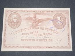 GUATEMALA - Entier Postal Illustré En 1895 - L 13306 - Guatemala
