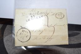 LETTRE DU 20 JANVIER 1831. CACHETS A DATE 20 JANV 1831.+MAGNAC LAVAL 81+ LE DORAT +.PD.+21 JANV 1831 - Postmark Collection (Covers)