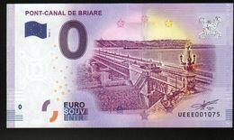 France - Billet Touristique 0 Euro 2018 N°1075 (UEEE001075/5000) - PONT-CANAL DE BRIARE - EURO
