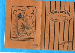Programme-PARIS- Héatre Comoedia-inauguré 27 Mai 1920-16 Pages Photos Et Publicités Pièce Une Affaire D'amour - Programs