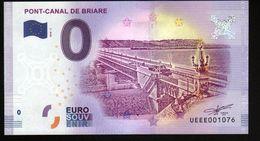 France - Billet Touristique 0 Euro 2018 N°1076 (UEEE001076/5000) - PONT-CANAL DE BRIARE - EURO