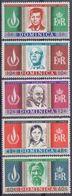 DOMINICA :1968: Y.201-05 Dentelled/neufs/MNH:## International Human Rights Year ##:U.N.O.,KENNEDY,Cecil RAWLE,JOHN XXIII - Dominique (1978-...)