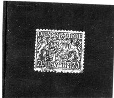 B - 1916 Germania - Bayern - Servizio - Stemma - Bayern (Baviera)