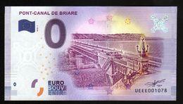 France - Billet Touristique 0 Euro 2018 N°1078 (UEEE001078/5000) - PONT-CANAL DE BRIARE - EURO