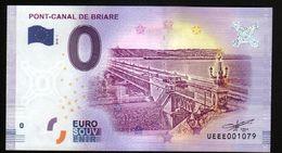 France - Billet Touristique 0 Euro 2018 N°1079 (UEEE001079/5000) - PONT-CANAL DE BRIARE - EURO