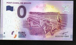 France - Billet Touristique 0 Euro 2018 N°1080 (UEEE001080/5000) - PONT-CANAL DE BRIARE - EURO