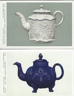 Salt-Glazed Teapots. British Museum. 2 Cards.  S-4204 - Fine Arts