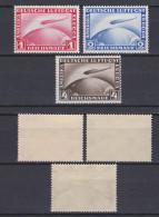 GERMAN REICH 1928 Zeppelin Mint * C35-C37 (Mi.423-4/455) - Germania