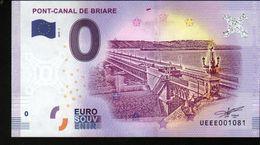 France - Billet Touristique 0 Euro 2018 N°1081 (UEEE001081/5000) - PONT-CANAL DE BRIARE - EURO
