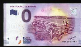 France - Billet Touristique 0 Euro 2018 N°1082 (UEEE001082/5000) - PONT-CANAL DE BRIARE - EURO