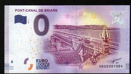 France - Billet Touristique 0 Euro 2018 N°1084 (UEEE001084/5000) - PONT-CANAL DE BRIARE - EURO