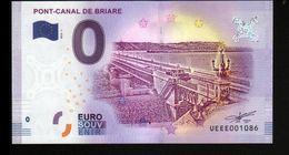 France - Billet Touristique 0 Euro 2018 N°1086 (UEEE001086/5000) - PONT-CANAL DE BRIARE - EURO