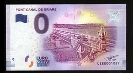 France - Billet Touristique 0 Euro 2018 N°1087 (UEEE001087/5000) - PONT-CANAL DE BRIARE - EURO