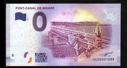 France - Billet Touristique 0 Euro 2018 N°1088 (UEEE001088/5000) - PONT-CANAL DE BRIARE - EURO