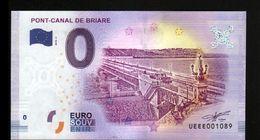 France - Billet Touristique 0 Euro 2018 N°1089 (UEEE001089/5000) - PONT-CANAL DE BRIARE - EURO