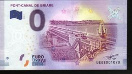 France - Billet Touristique 0 Euro 2018 N°1090 (UEEE001090/5000) - PONT-CANAL DE BRIARE - EURO