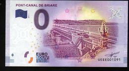 France - Billet Touristique 0 Euro 2018 N°1091 (UEEE001091/5000) - PONT-CANAL DE BRIARE - EURO