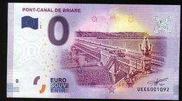 France - Billet Touristique 0 Euro 2018 N°1092(UEEE001092/5000) - PONT-CANAL DE BRIARE - EURO