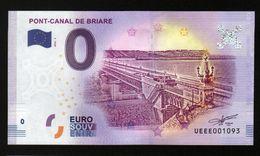 France - Billet Touristique 0 Euro 2018 N°1093 (UEEE001093/5000) - PONT-CANAL DE BRIARE - EURO