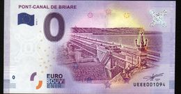 France - Billet Touristique 0 Euro 2018 N°1094 (UEEE001094/5000) - PONT-CANAL DE BRIARE - EURO