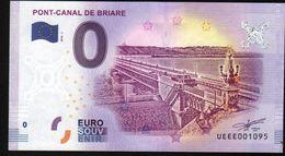 France - Billet Touristique 0 Euro 2018 N°1095 (UEEE001095/5000) - PONT-CANAL DE BRIARE - EURO