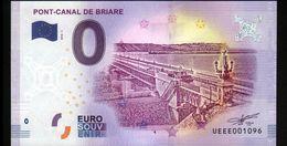 France - Billet Touristique 0 Euro 2018 N°1096 (UEEE001096/5000) - PONT-CANAL DE BRIARE - EURO