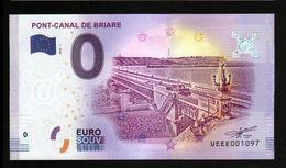 France - Billet Touristique 0 Euro 2018 N°1097 (UEEE001097/5000) - PONT-CANAL DE BRIARE - EURO