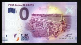 France - Billet Touristique 0 Euro 2018 N°1098 (UEEE001098/5000) - PONT-CANAL DE BRIARE - EURO