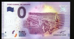 France - Billet Touristique 0 Euro 2018 N°1099 (UEEE001099/5000) - PONT-CANAL DE BRIARE - EURO