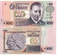 URUGUAY  100 Pesos Uruguayos P85b    Serie D  Dated 2006   UNC - Uruguay
