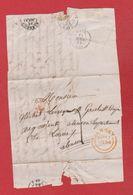 Face Avant    / De Jersey /  Pour Alençon / 11 Avril 1854 - Postmark Collection