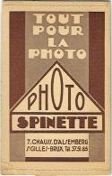 Foto/Photo. Pochette Spinette. Bruxelles-St.Gilles - Matériel & Accessoires