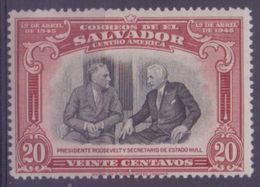 EL SALVADOR :1948: Y.561 Dentelled/avec Très Légère Trace De Charnière/very Lightly Hinged : ## 3th Anniversary Of ... - Salvador