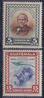 GUATEMALA :1946: Y.PA141-42 Dentelled/neufs/MNH : ## Centenary Of The Postal Stamp ## : MAIL,POST,STAMP,COMMUNICATION, - Guatemala