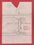 Plis  / De Anvers /  Pour Paris / Cachet Pays Bas Par Valenciennes /  19 Janvier 1833 - Marcophilie