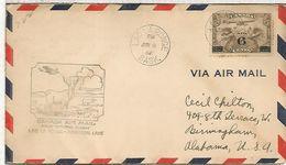 CANADA FIRST FLIGHT 1932 LAC LA ROINGE MONTREAL LAKE FAUNA RENO - Animalez De Caza