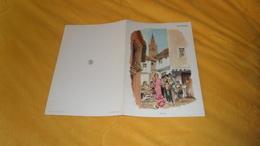 MENU ANCIEN DATE ?. / AIR FRANCE LIGNE PARIS - MEXICO. / ILLUSTRATION BEUVILLE. ESPAGNE. - Menus