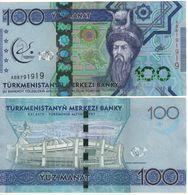 """New TURKMENISTAN  100 Manat. """"Pnew"""". Asian Olympics.  2017 UNC - Turkmenistan"""