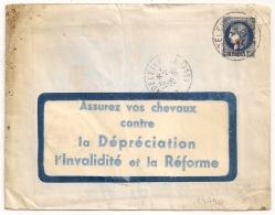 LA MADELEINE Allier ASSUREZ VOS CHEVEAUX..... - Marcophilie (Lettres)