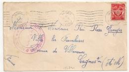 GABES TUNISIE 4e REGIMENT DE CHASSEUR D'AFRIQUE En FM 1952 - Marcophilie (Lettres)