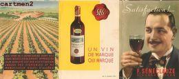 PUBLICITE SENECLAUZE VIN D'ALGERIE VITICULTURE VENDANGE SAINT-EUGENE ORAN TARIF VITICULTEUR NEGOCIANT PRESSOIR TONNEAUX - Publicités