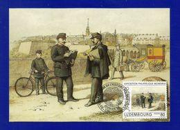 Luxemburg 1997  Mi.Nr. 1424 , Aquarelle Par Michel Engels - Maximum Card - Journee De L'Historie Postale16.9.98 - Maximum Cards
