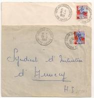 THORENS GLIERES Et PETIT BORNAND LES GLIERES Haute Savoie Sur 2 Enveloppes. - 1921-1960: Modern Period