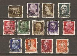 Italie - 1929/30 -série Dite Impériale - Petit Lot De 13° - Vrac (max 999 Timbres)