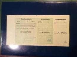 Ca 1930 Kompletes ÖSTERREICHISCHE POSTSPARKASSE Formular  (Österreich Geld Postanweisung Post Bank - 1918-1945 1. Republik