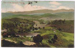 "Cartolina  "" View Of The Upcountry Railway"" - Viaggiata 1923 - 2 Bolli Perfin - Sri Lanka (Ceylon)"