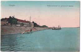 Giorgiu - Debarcaderul - Viaggiata Anni '30 - Bella Affrancatura Multipla - Romania