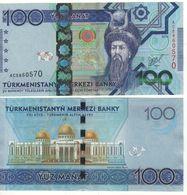 TURKMENISTAN    100  Manat.  P34   ( 2014 )   UNC - Turkmenistan
